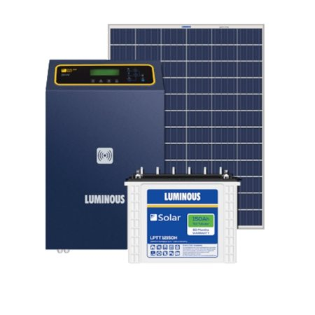 6kW Luminous Solar Complete System price with Panels, Inverter and Battery.