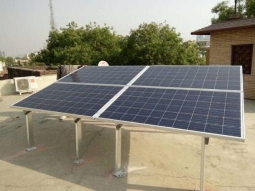 1kW Solar Panel System installed on rooftop