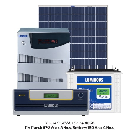 2kW Solar Panel System with Battery price in india